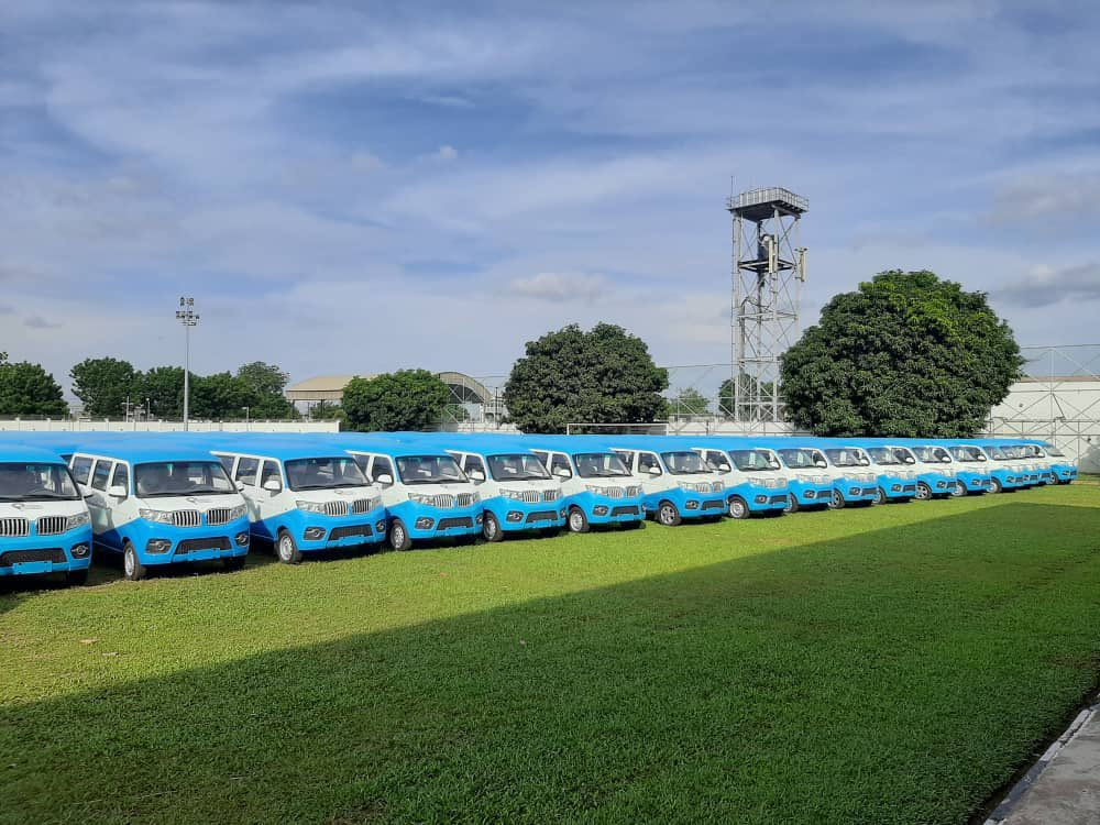 The newly inaugurated First and Last Mile (FLM) Bus Scheme in Lagos on Tuesday