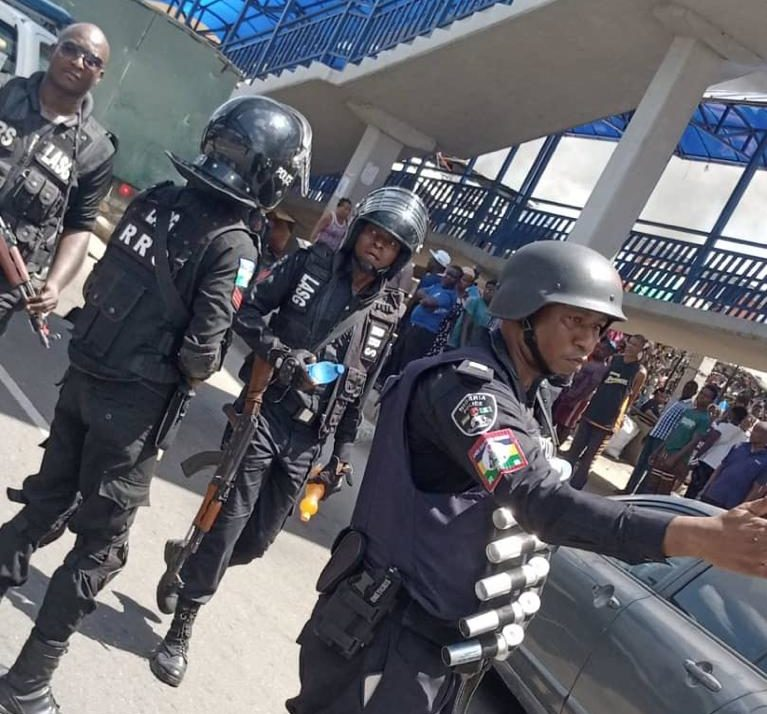 Police officers deployed to the affected areas