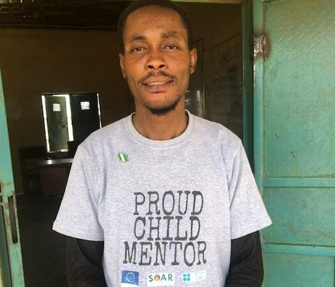 Samuel, a passionate mentor teaching children how to fight against sexual abuse in Tacha1 village