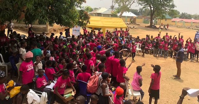 inside LEA primary school In Tacha1 where children, parents and villagers gathered for the close out event for the community based approach against sexual abuse