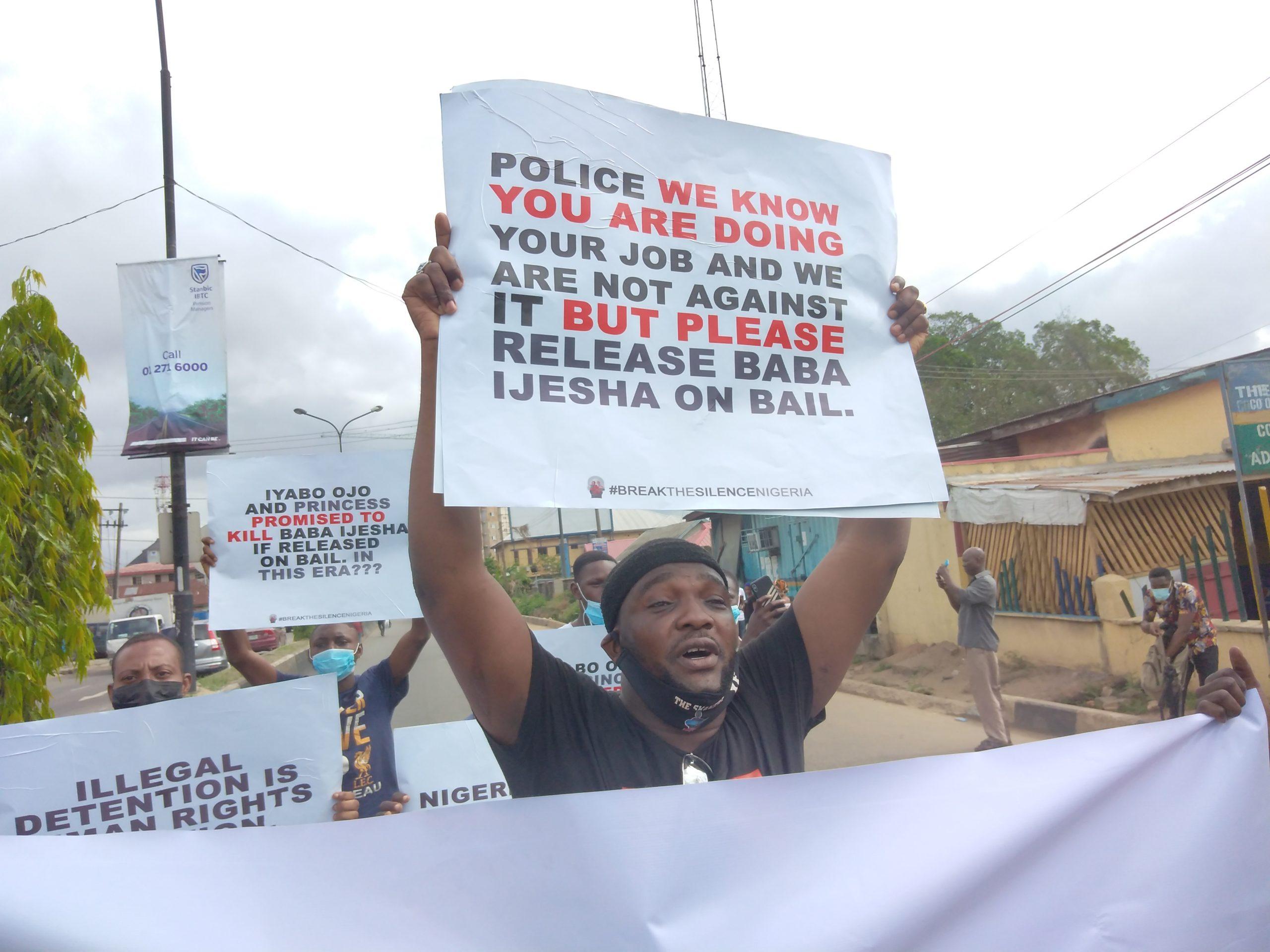 Yomi Fabiyi leads protest in Lagos