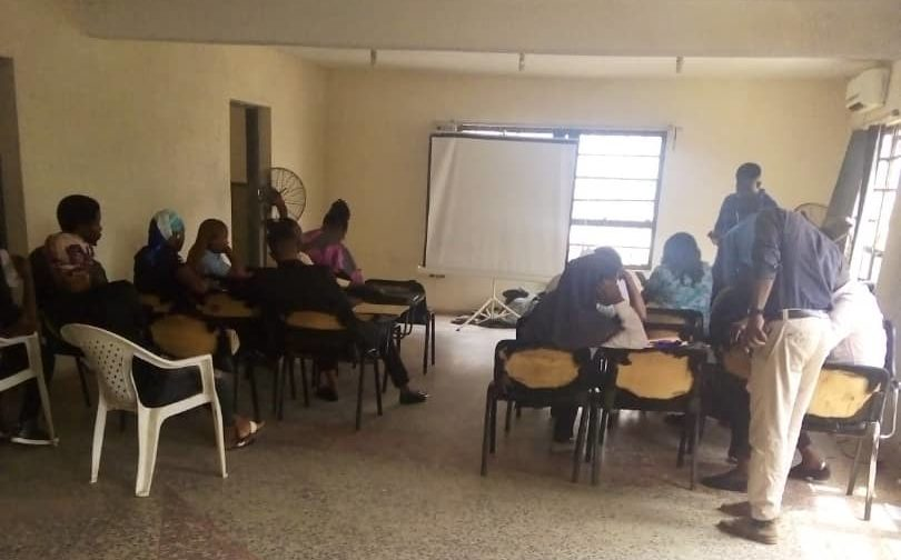 Applicants at SOL office, Iwo Road, Ibadan, Oyo State