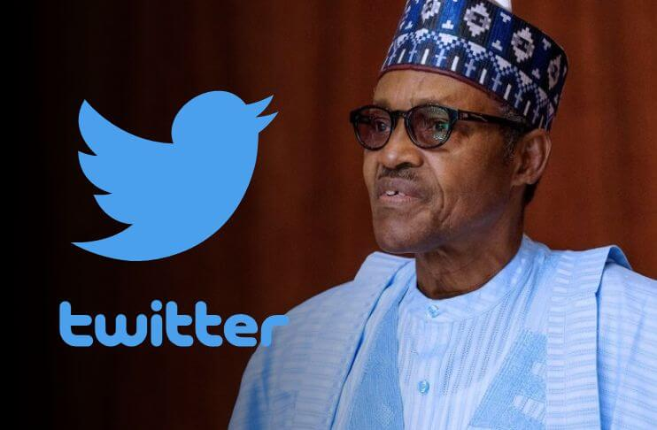 President Buhari and the Twitter logo