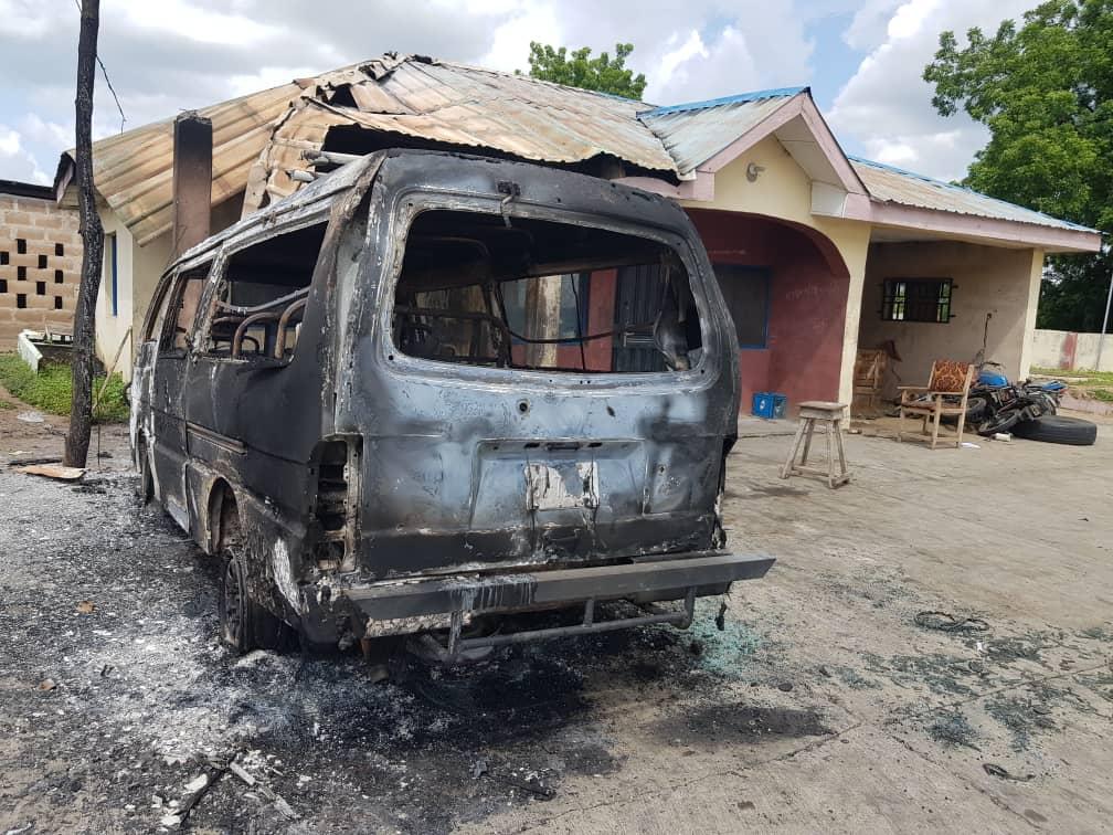 Burnt properties during Igangan community midnight attack