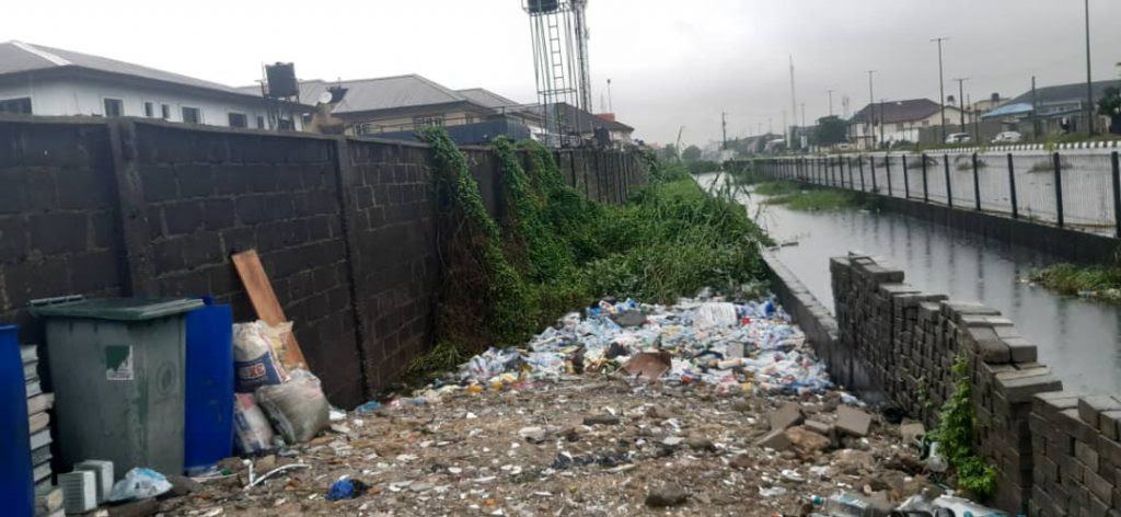 Encroachment on canals on the Lekki axis
