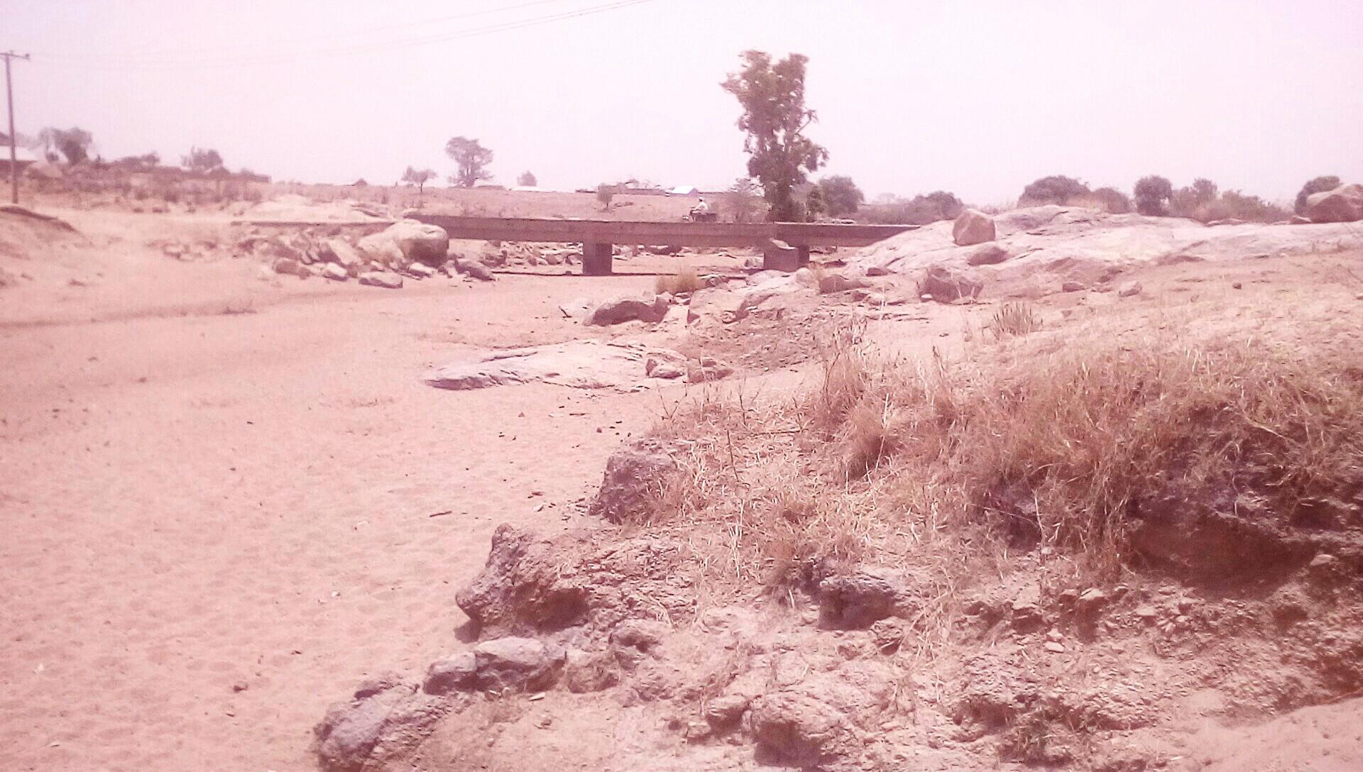 Ga'anda Bridge close to the Ga'anda town in total disrepair