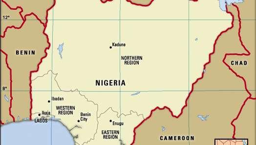 Nigeria-boundaries-1960- Britannica