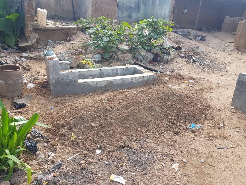 Bury ground of Rabi Raji killed by stray bullet
