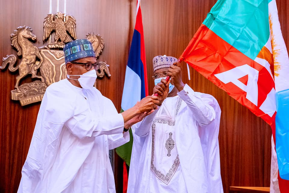 President Buhari receives Governor Bello Matawalle and Governors Ben Ayade at the State House