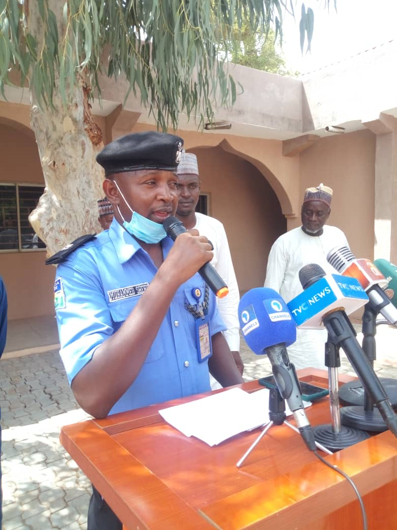 A police officer speaking about the release of the victims.