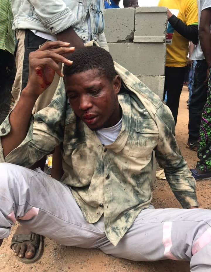 The battered factional chairman, Adeyemi Samson