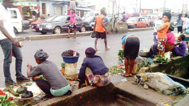 FILE PHOTO: Street traders pictured somwhere in Port Harcourt