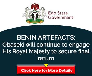 Benin Artefacts Ad