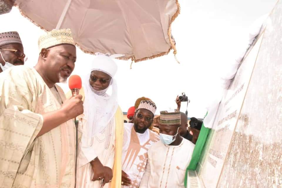 Jigawa governor delivering remarks at the event.