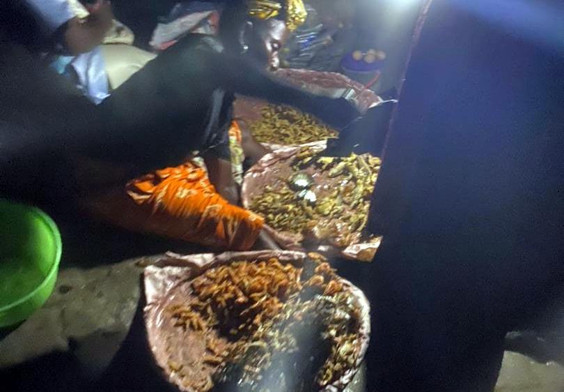 Food Vendor at Alade Market