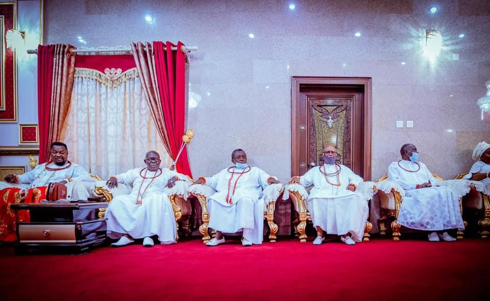 Elders in Council: Gbajabiamila visits Olu of Warri [PHOTO: FB Femi Gbajabiamila]