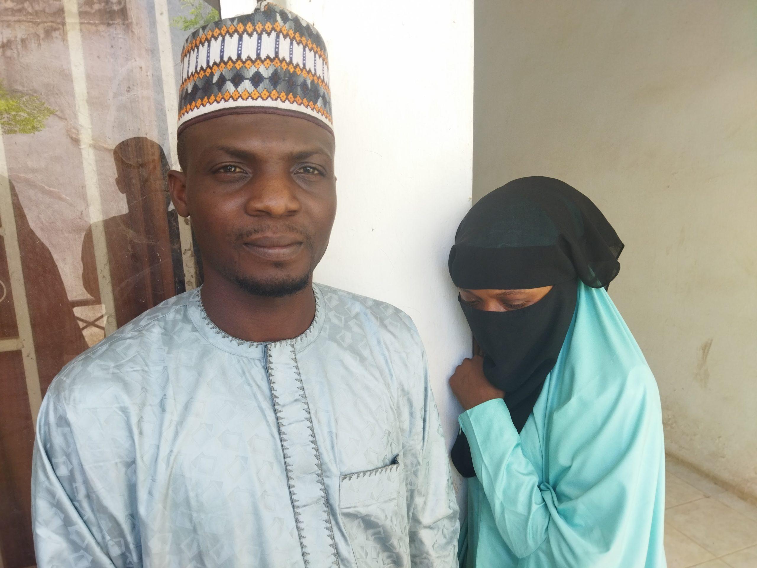 Abubakar Yusuf and his bride Hafsat Abdullahi