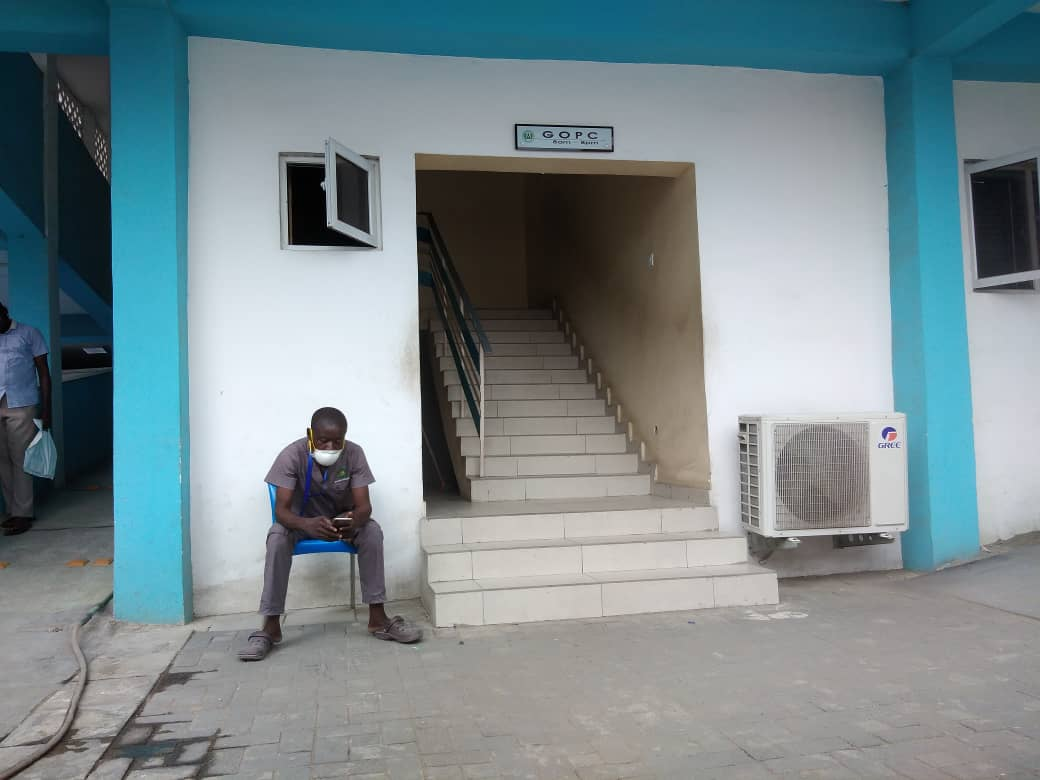 Entrance of the General Out-Patient Clinic in the FMC Ebutte-Metta, Lagos