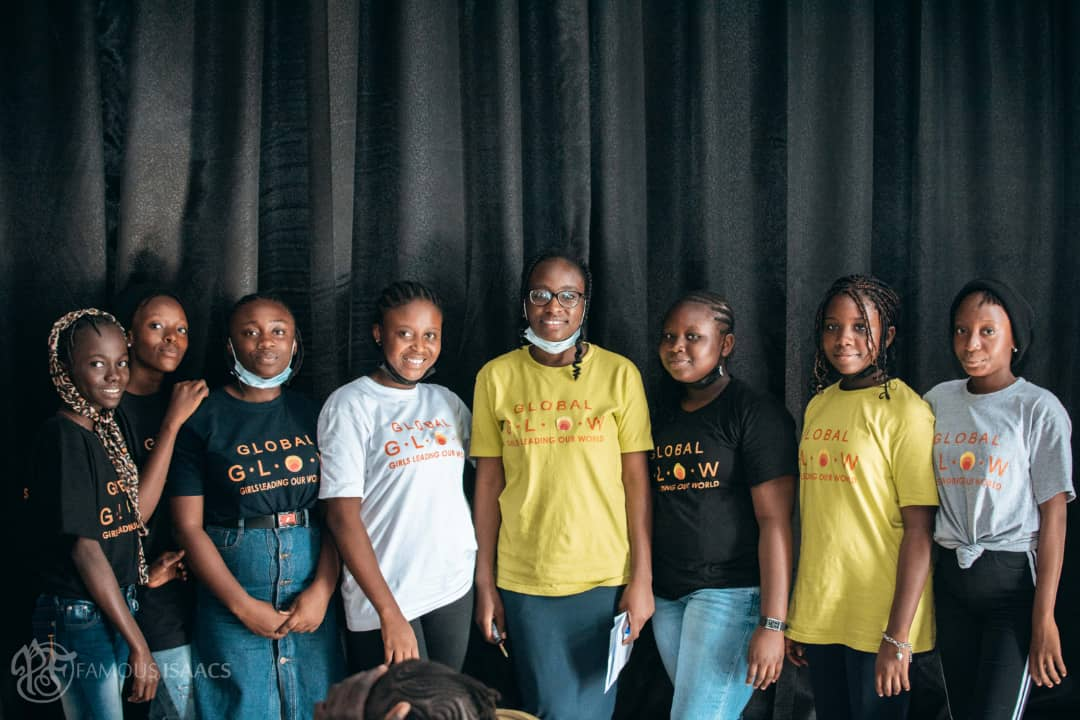 Some of the girls at the event trained about advocacy and public speaking