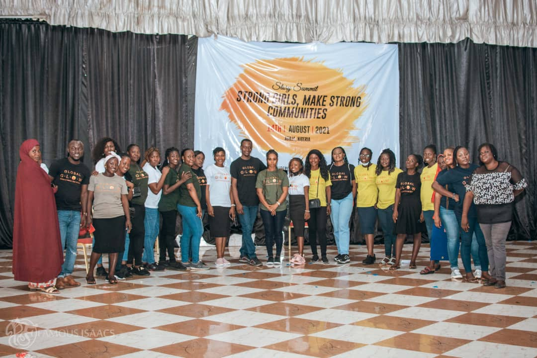 A cross section of some of the organizers of the event and the girls