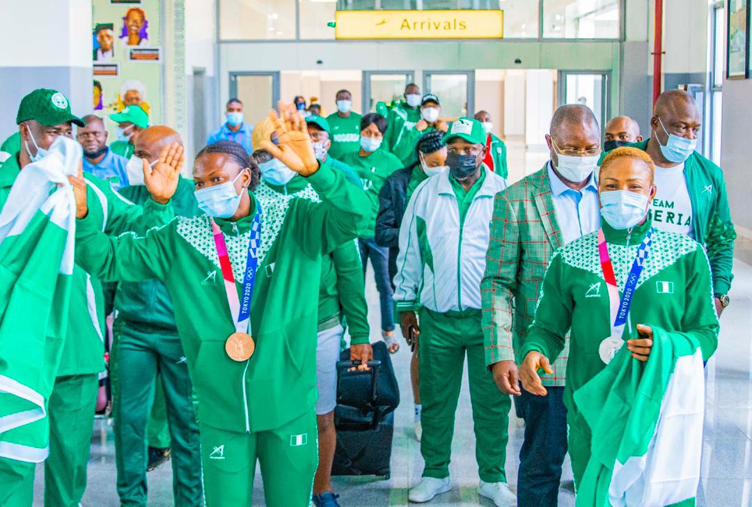 Olympic medalists Brume, Oburududu return from Tokyo