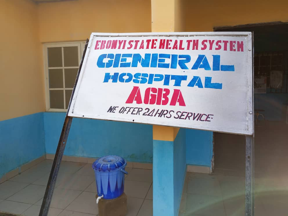 General hospital in Agba local government where infected person in Amachi village were rushed to.