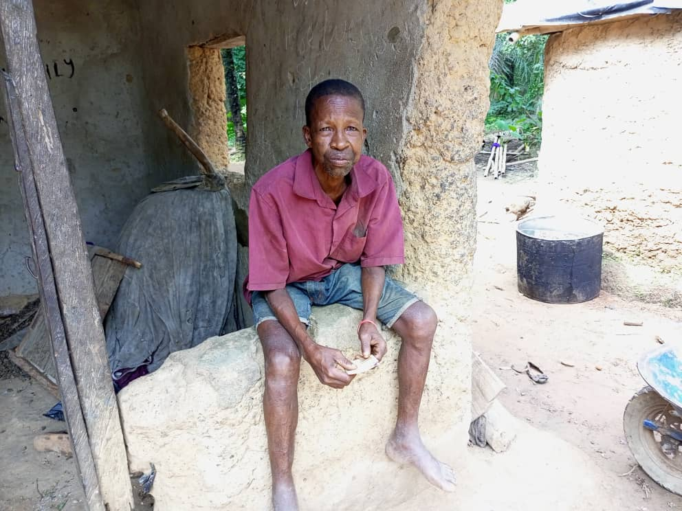 David Adachi, the eldest in the affected compound in Amachi village, Agba in Ebonyi state. He survived after treatment.