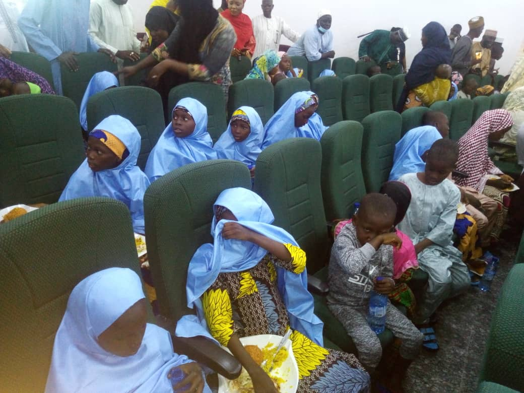 Some of the freed pupils [Photo : Mary Noel-Berje media aide to the governor]