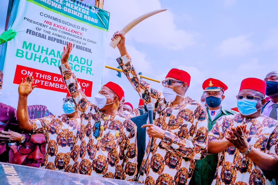 President Buhari during his visit to Imo State, September 9, 2021