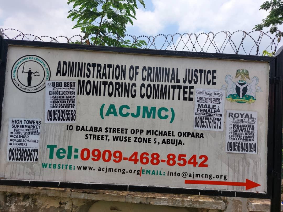 An ACJMC signpost