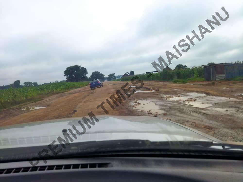 Dilapidated road from Birnin Gwari in Kaduna to Tegina town.