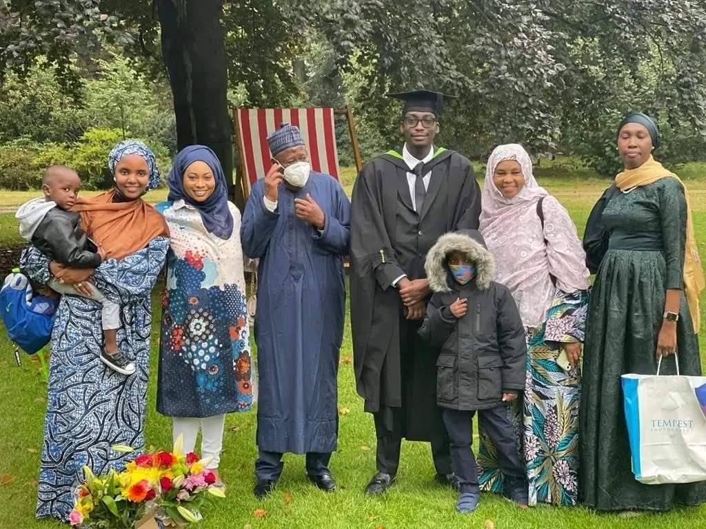 Governor Ganduje and family members in London