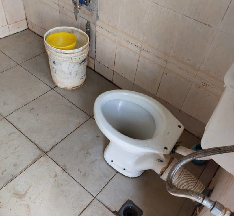 A stenchy toilet at the FCT High Court, Apo.