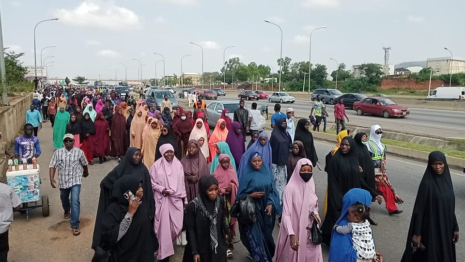Shiites holding a procession