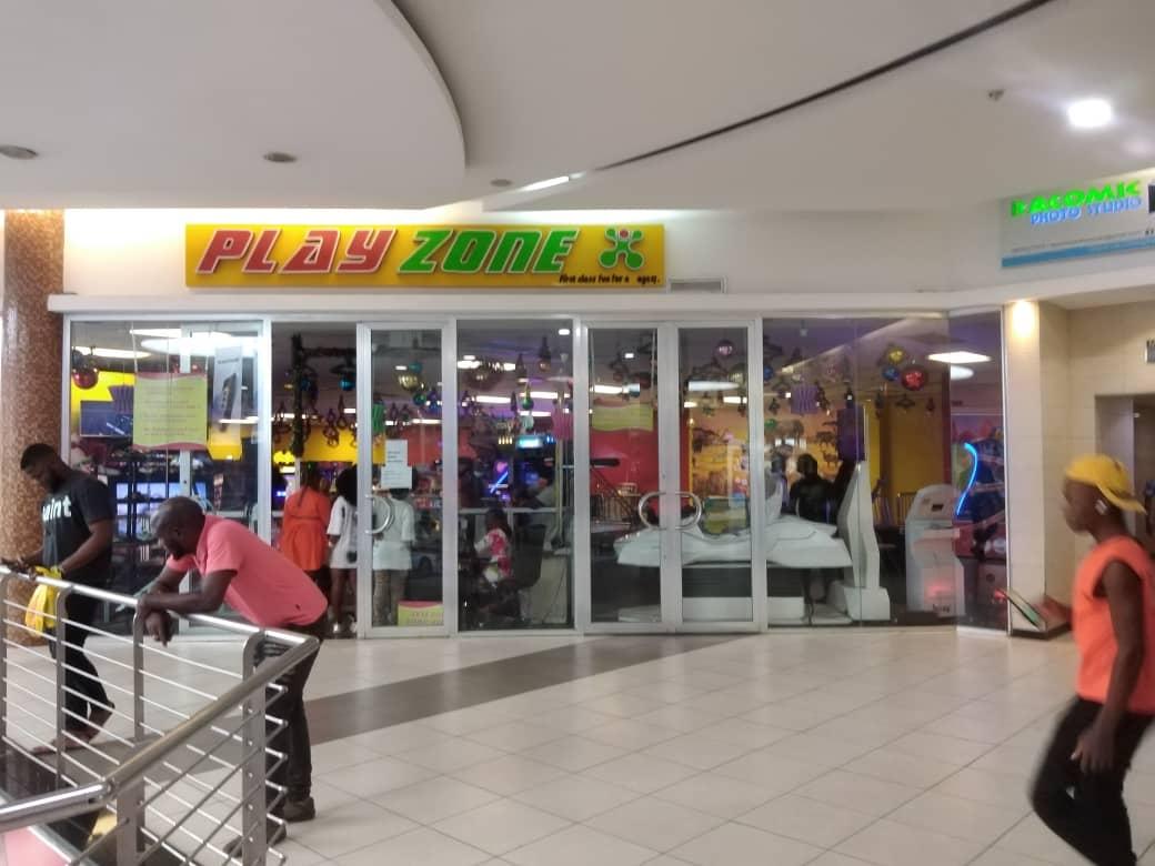 Ikeja City Mall with no signage