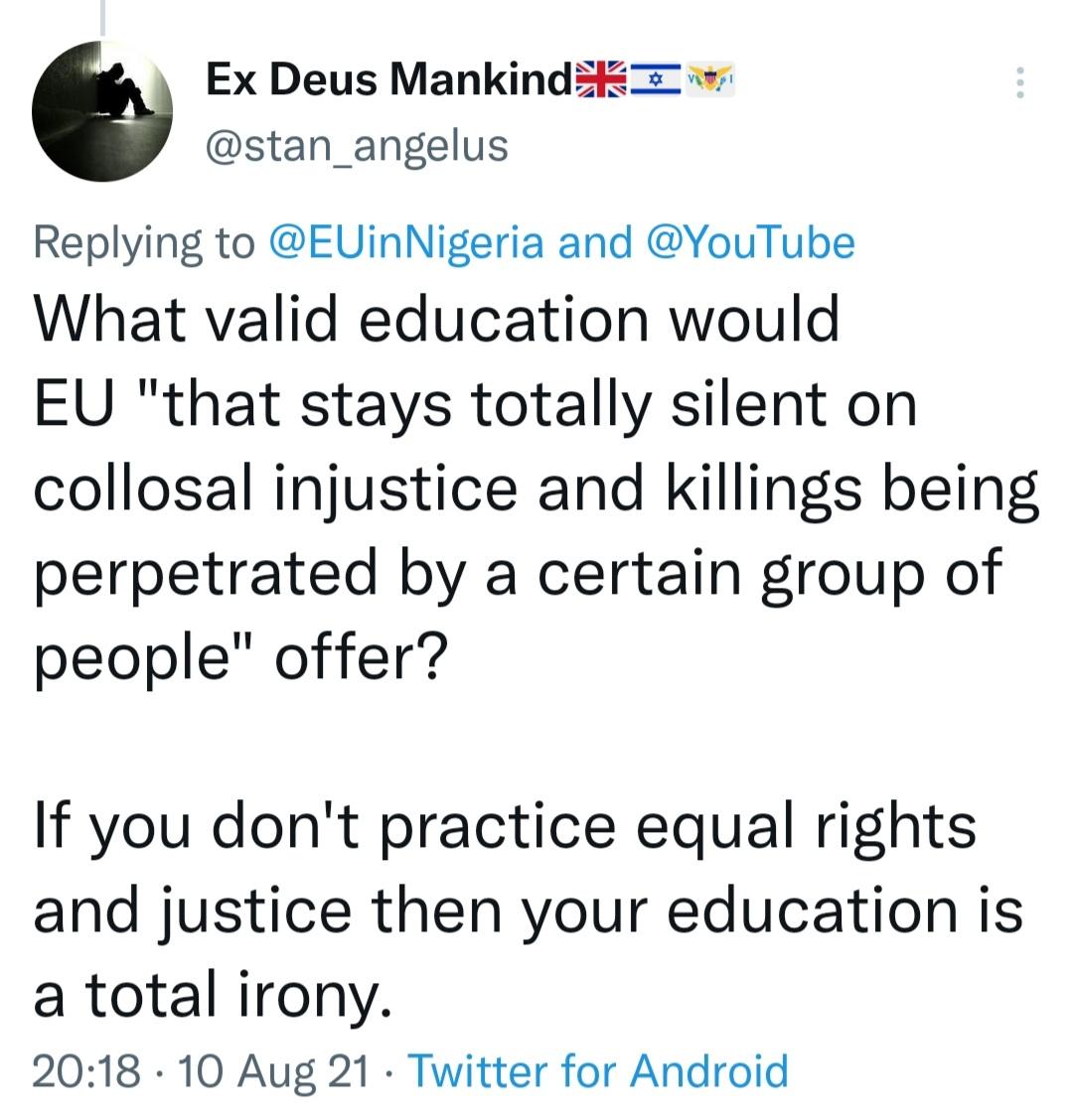 Reaction to EU's tweet