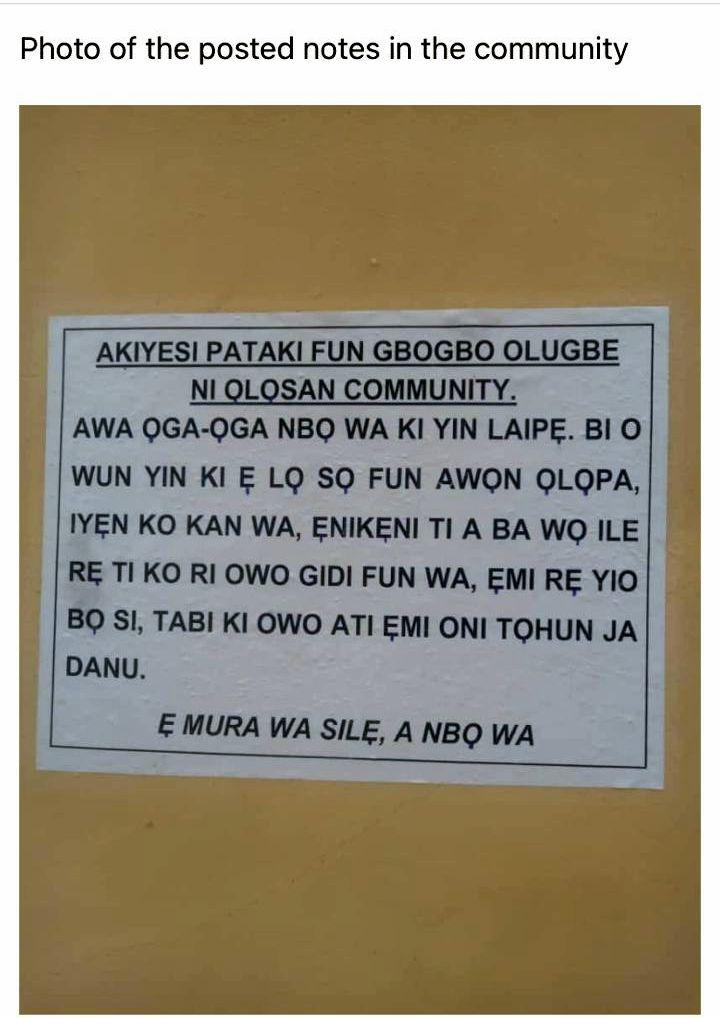Robbers write Ogun community over planned visit