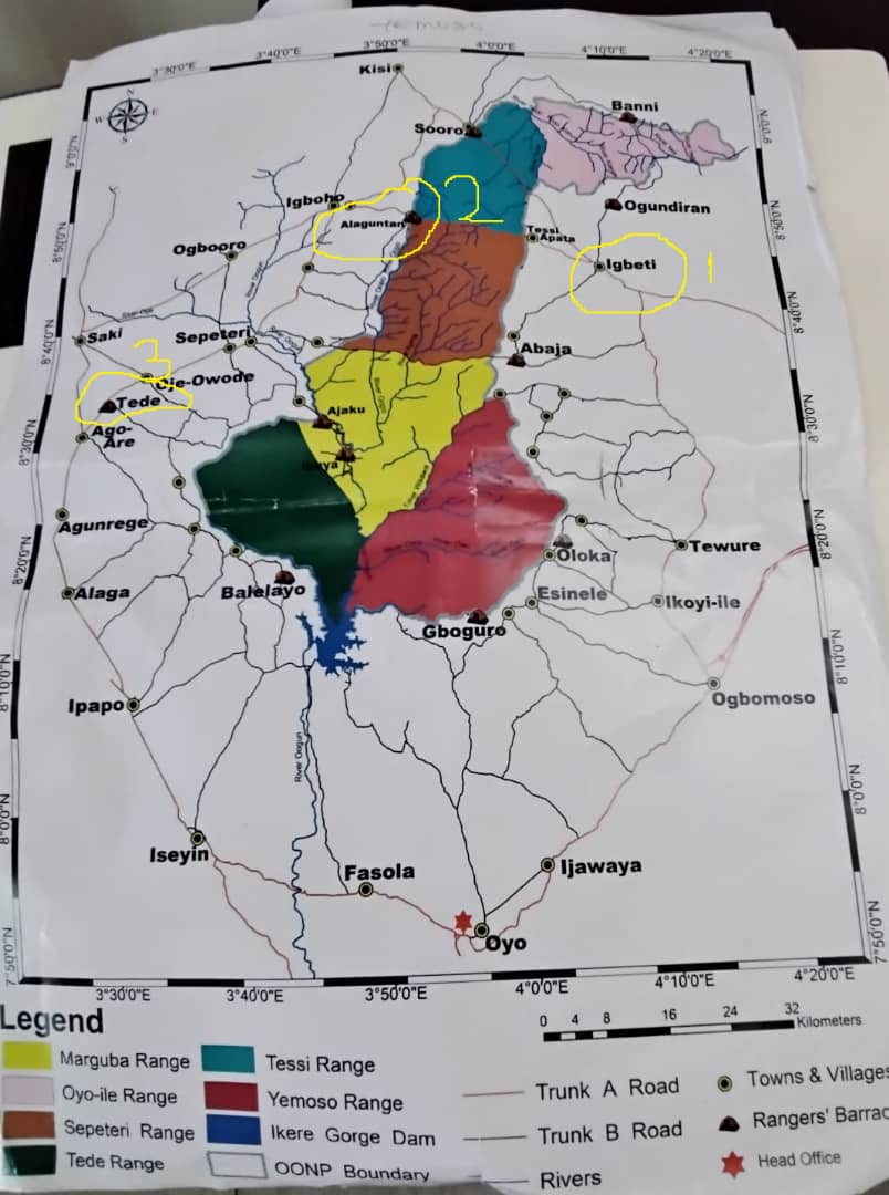 picture of map showing the projects areas