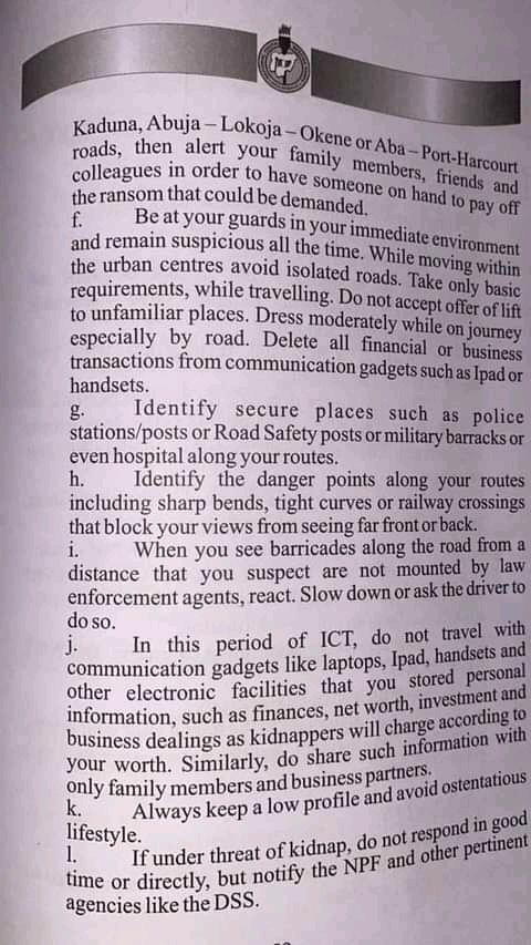 Sections of the NYSC Handbook