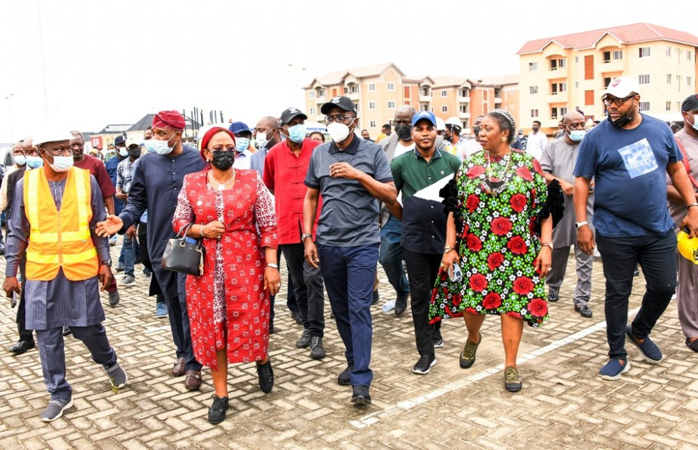 LagosHOMS Sangotedo Housing project in Eti Osa inspected by Gov Sanwo-Olu on Friday