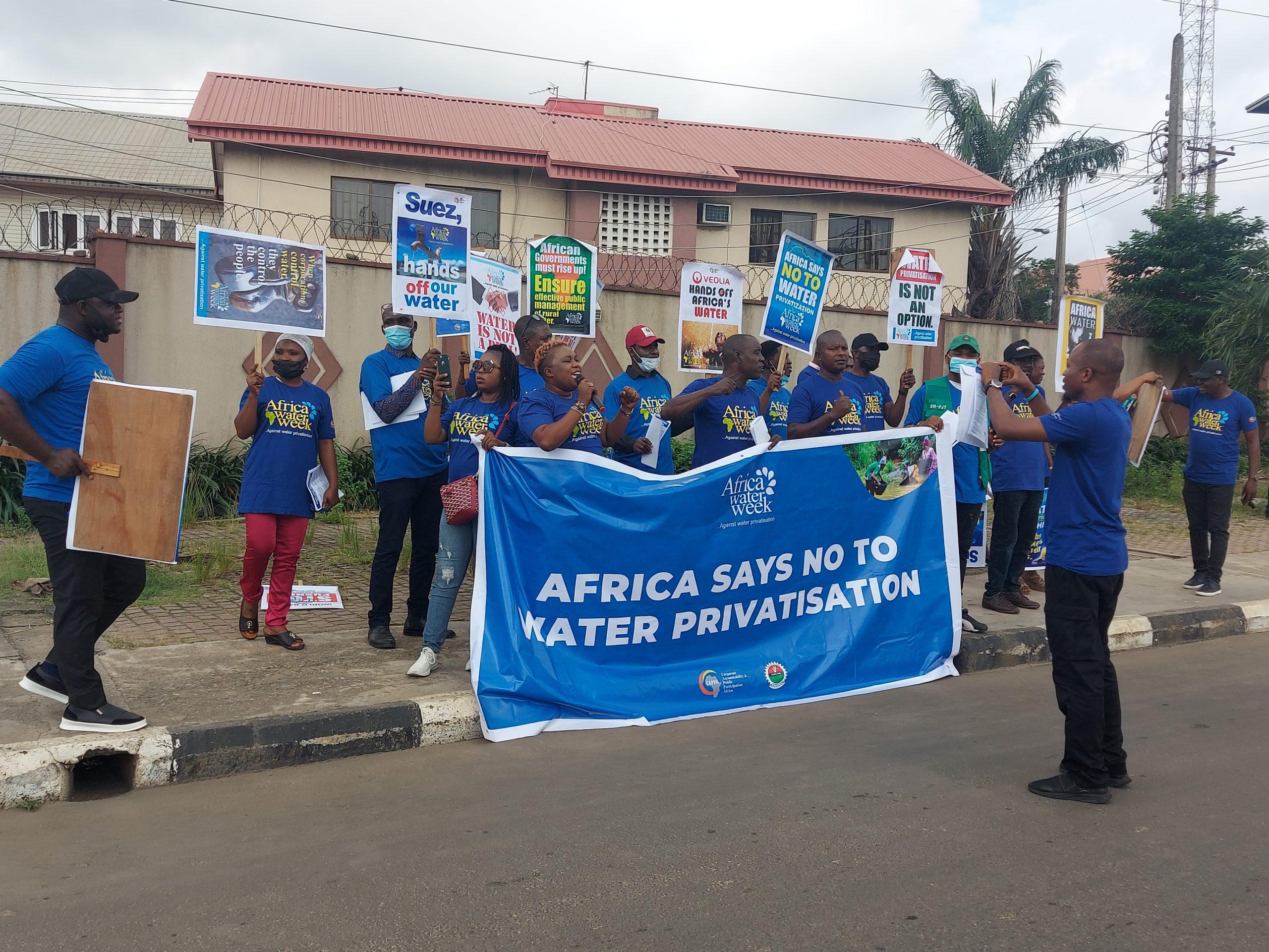 CSOs, activists, labour unions march against water privatisation in Nigeria