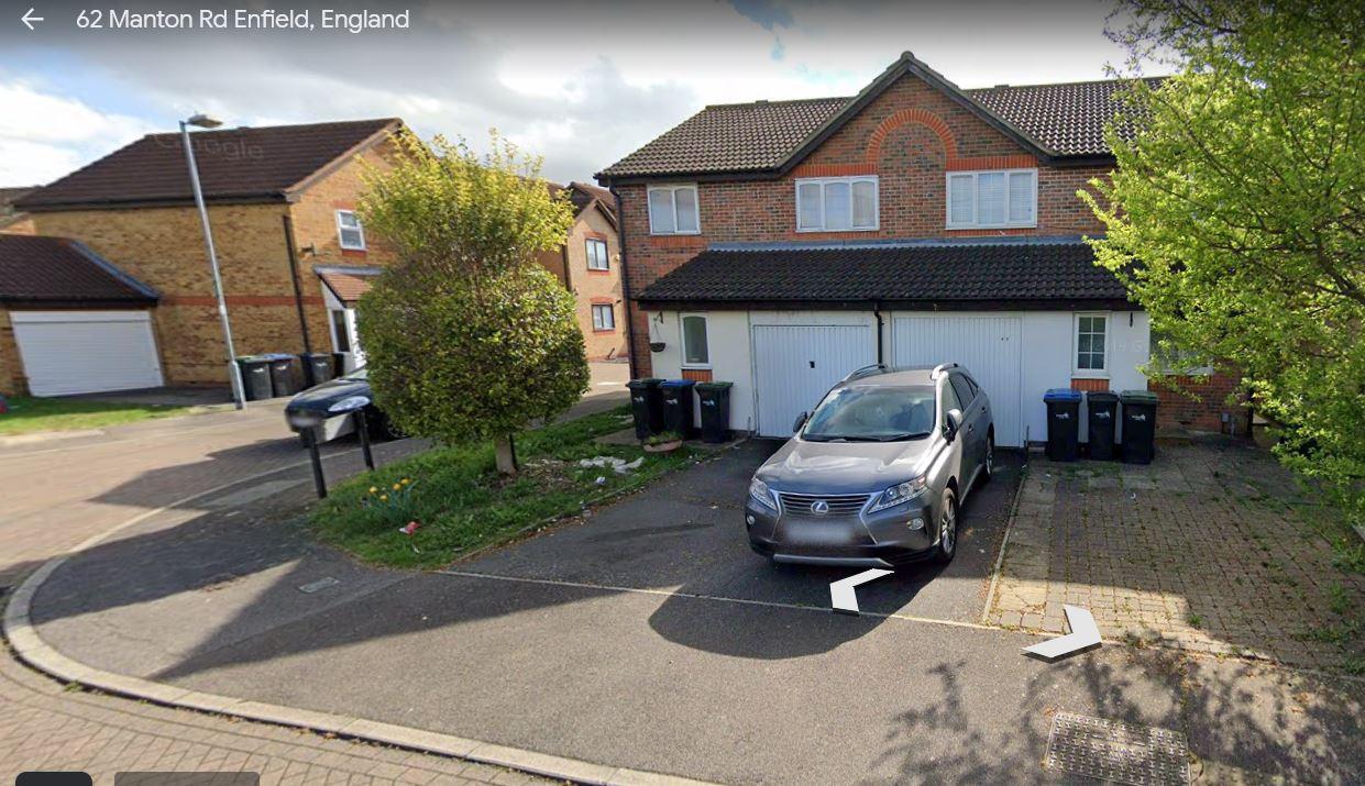 Google Street View image of 62 Manton Road, Enfield, London EN3 6XZ