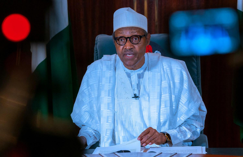 President Buhari addressing the nation