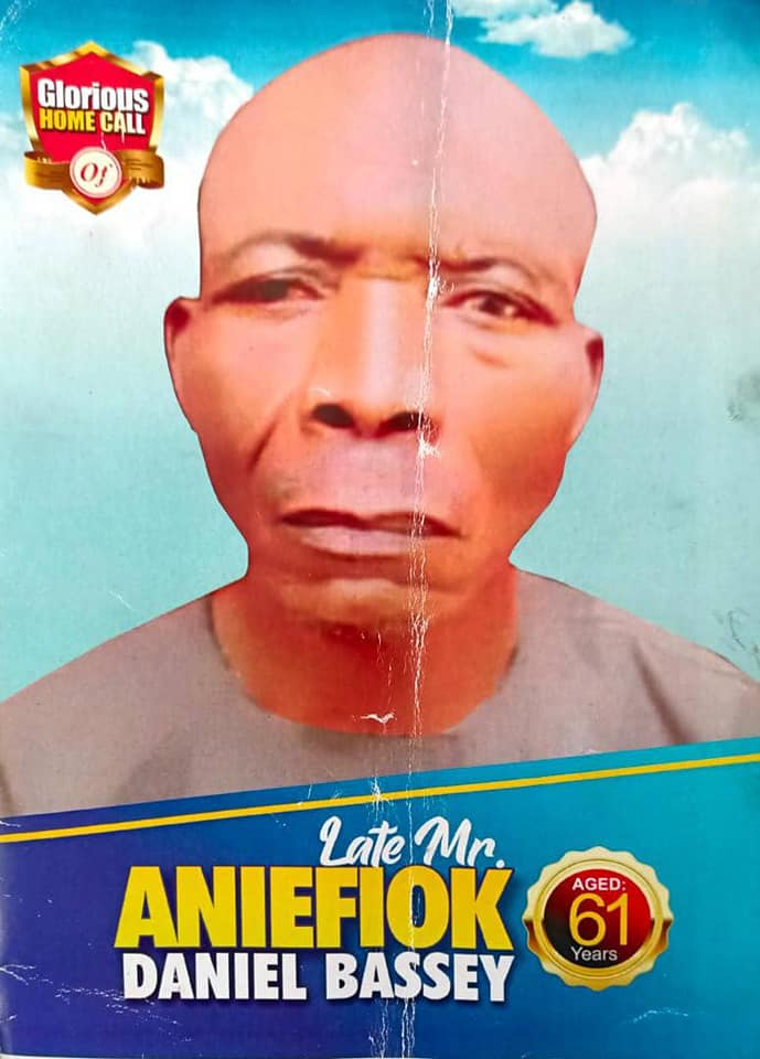 The burial programme of late Aniefiok Bassey