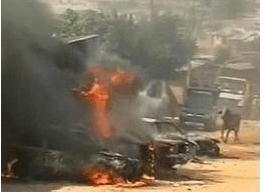 FILE PHOTO: Scene of a previous bomb blast In Jos
