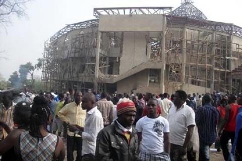 The COCIN church in Jos was bombed a few weeks ago