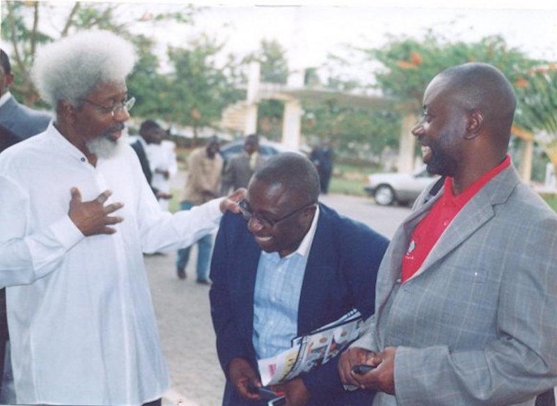 Chido, Dapsy and Prof. Soyinka