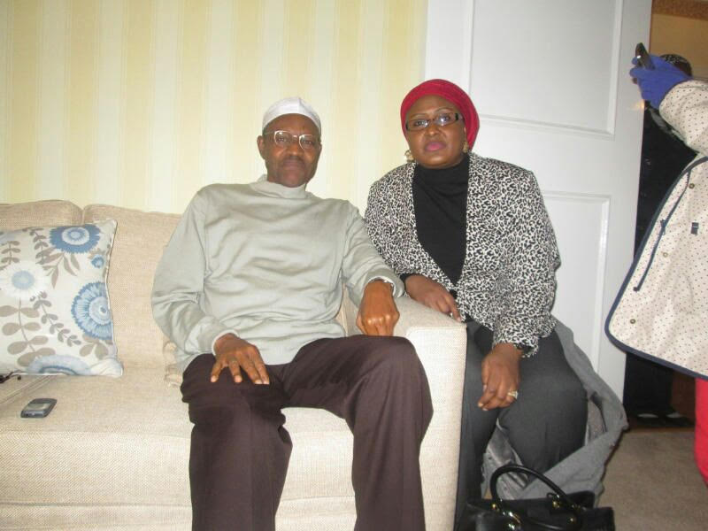 President Buhari-and-Wife-in-London