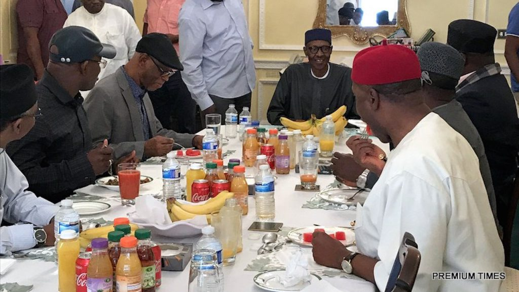 Governors and President Buhari - London