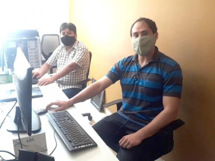 Miembros del área de informática del Ministerio de Seguridad.